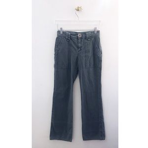 marc jacobs / teal straight leg jeans
